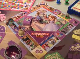 sofia monopoly junior board purple pawn