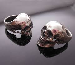 skull wedding rings into the jewelry skull ring wedding set horrific finds