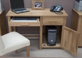 Small Pc Desk Eton Solid Oak Modern Furniture Small Office Pc Computer Desk Ebay