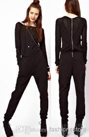 zipper jumpsuit 2018 jumpsuit fashoion style zipper patchwork slash