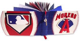 baseball photo album custom leather baseball scrapbook album mn artists