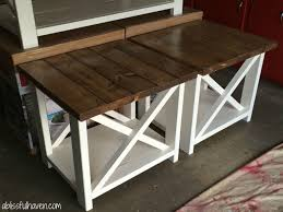 Remodelaholic How To Build A Desk With Wood Top And Metal Legs by Best 25 Diy End Tables Ideas On Pinterest Farmhouse End Tables