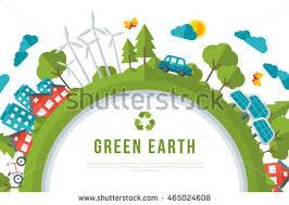 Eco Friendly Architecture Concept Ideas Eco Friendly Green Energy Concept Frame Stock Vector 465024608