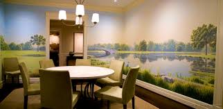 wall decals for dining room bedroom engaging forest park dining room mural peter engelsmann