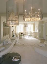 fascinating most beautiful living rooms with crystal chandelier