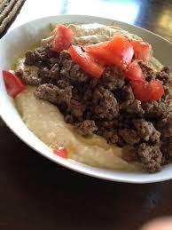 cuisine libanaise houmous francofoodie bœuf haché au cumin et houmous francofoodie