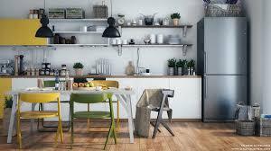 decorating ideas light wood colored kitchen open shelving decor