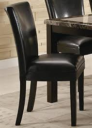 Leather Parson Dining Chairs Set Of 2 Parson Dining Chairs In Brown Faux Leather