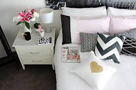 Pink Gold Bedroom Styling A Monochrome Pink And Gold Bedroom Redagape