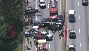 video 10 car pileup on schuylkill expressway leaves 5 injured