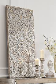champagne mirrored mosaic damask panel damasks display and walls