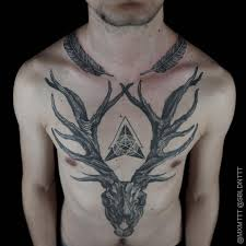 amazing skull tattoos deer skull tattoo blackwork by mxm tattoos styles and ideas