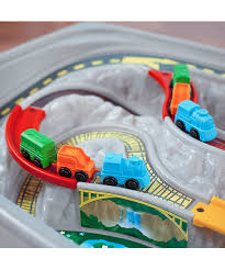 step2 deluxe canyon road train and track table with lid step2 deluxe canyon road train track table set zulily