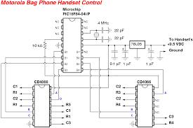 motorola bag phone handset control