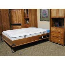 cabinet wall bed mechanism for use with full size mattress inside