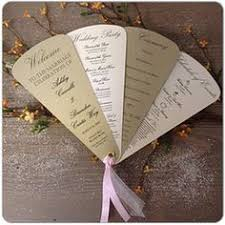 how to make fan wedding programs fan wedding programs 5 petals on 107lb by onechelleofamug on etsy