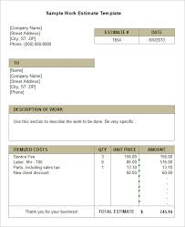 estimate templates for word 10 sle estimate templates free word excel pdf documents