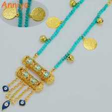 girl gold necklace images Anniyo muhammad necklaces women girl gold color muslim kurdish jpg