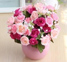 Home Floral Decor 2018 Artificial Flowers Wedding Bouquet Flower Arrangement