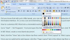 word layout pictures how to make microsoft word into a minimalist word processor guide