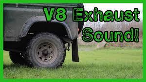 lexus v8 in defender defender 90 v8 straight pipe brutal sound youtube