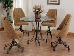 rolling dining room chairs dining room chairs on casters