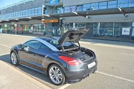 peugeot rcz rear peugeot rcz enhanced with new exhausts and custom luggage