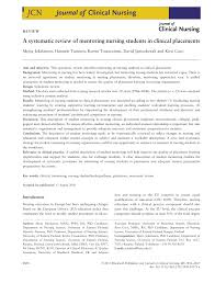 a systematic review of mentoring nursing students in clinical