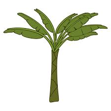 ornamental banana tree cuttable design