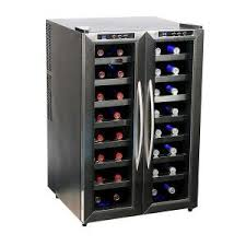 black friday wine fridge ge 31 bottle wine beverage cooler in silver gvs04bdwss the home
