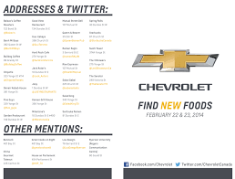 first chevy logo chevroletcanada wants to help you find new foods pcto14