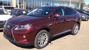 used lexus rx 350 hybrid 2015 lexus rx 350 awd red claret mica on black touring package