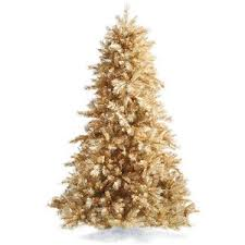 gold christmas tree chagne gold artificial christmas tree frontgate polyvore