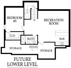 the weston by rodrock homes weston optional basement finish