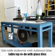 Chalk Paint Side Table Side Table Makeover With Aubusson Blue Annie Sloan Chalk Paint