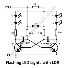 ldr flashing led circuit