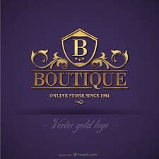 design free logo download gold boutique logo design vector free download