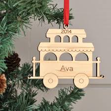 wooden train christmas ornament personalized baby u0027s first