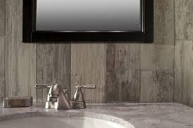 Rustic Bathroom Tile - wood look tile backsplash rustic bathroom atlanta by floor