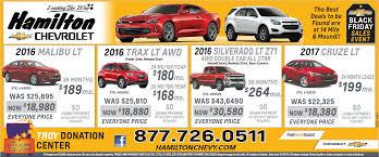 black friday car sales 2017 hamilton chevrolet newspaper ad