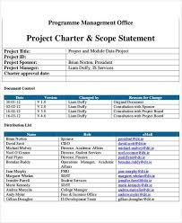 project charter template 8 project charter templates free pdf