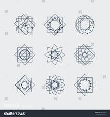 linear ornamental symbols set vector arabic stock vector 537366229