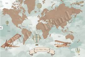 Vintage World Map by World Map In Red U2013 Classic Timeless Furniture U0026 Decor For