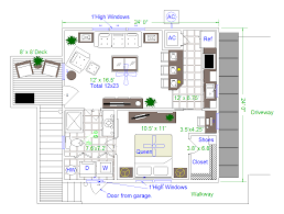 Art Studio Floor Plan Highlander Garage Apartment