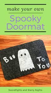 Fun Doormat How To Make A Spooky Doormat For Halloween Doormat Decorate