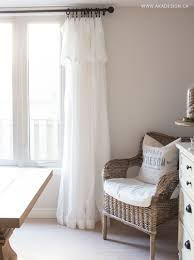 White Ruffled Curtains by Inexpensive Curtains Ikea Curtain Hack White Curtains