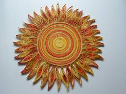 sun wall art paper quilling kids room wall decor bedroom wall