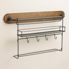 modular kitchen wall storage spice rack with cup hooks world market