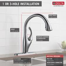 addison kitchen faucet single handle pull down kitchen faucet with shieldspray 9192 ar dst