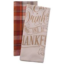 dii cotton thanksgiving dish towels 18x28